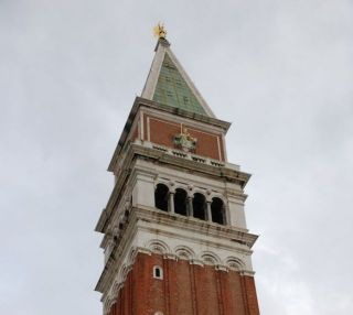 Campanile of St. Mark's Basilica in Venice, Italy (MarcusObal/Wikimedia Commons)