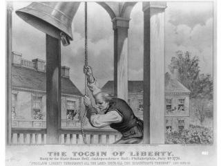 The Tocsin of liberty: rung by the state house bell, (Independence Hall;) Philadelphia, July 4th, 1776 - Autor: Library of Congress